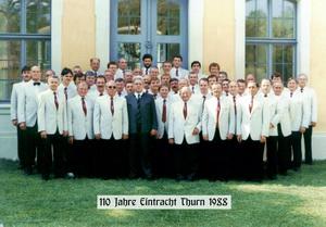 Die Eintracht 1988 beim 110-jährigen Jubiläum