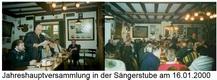 Jahreshauptversammlung am 16.01.2000 in der Sängerstube