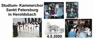 Konzert des Studium-Kammerchores am 4.5.2000